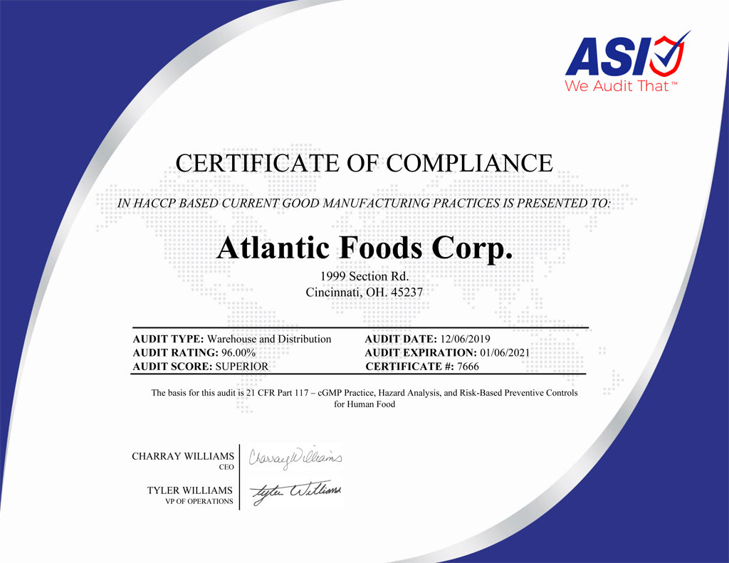 Atlantic Foods Corp